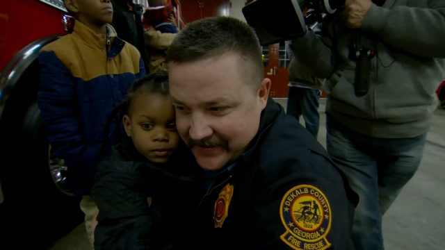 Georgia Firefighter and the Little Girl He Saved