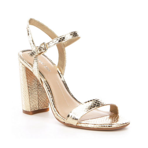 Gianni Bini Mckaria Metallic Block Hell Dress Sandals
