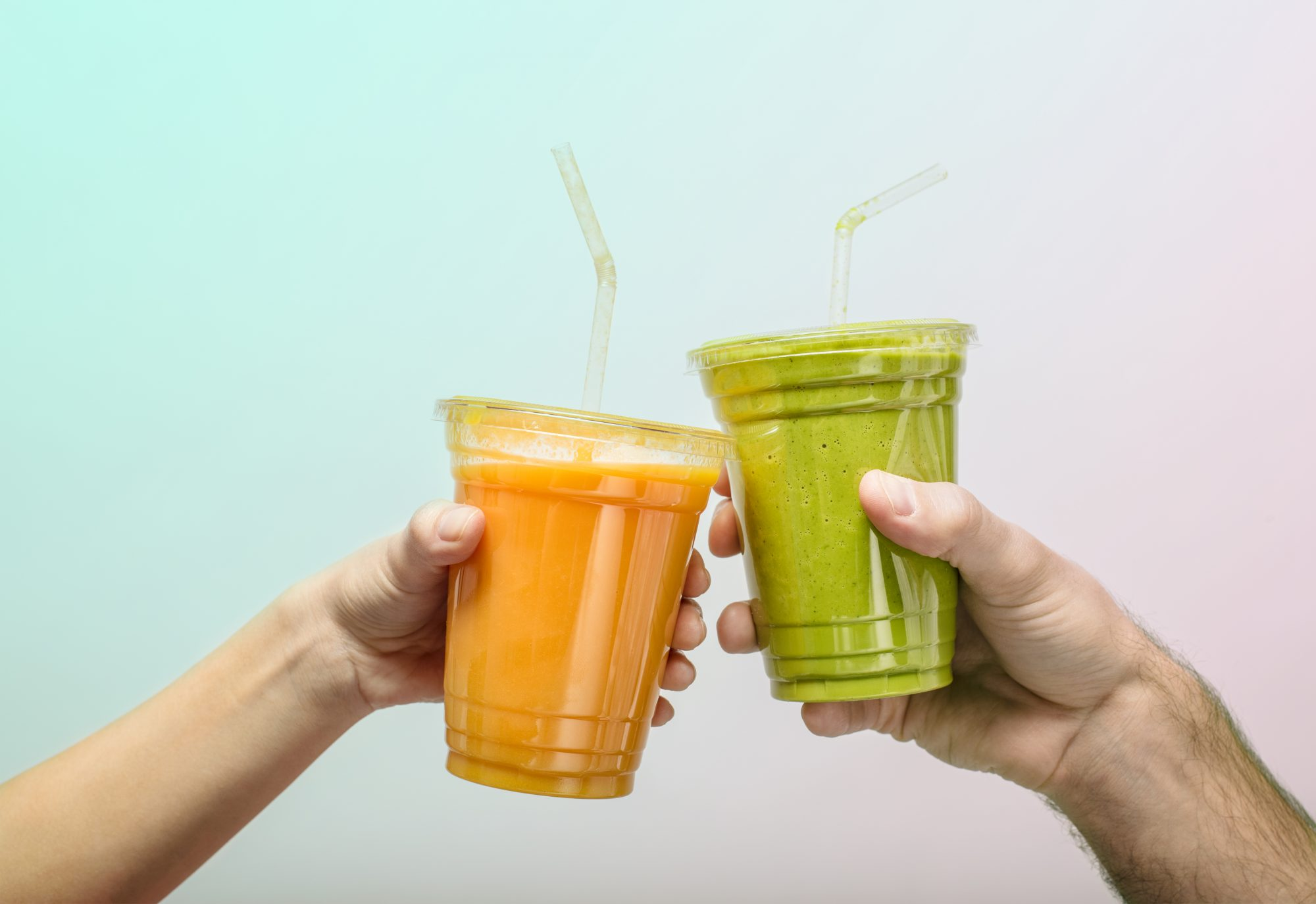 Toasting with fruit smoothies
