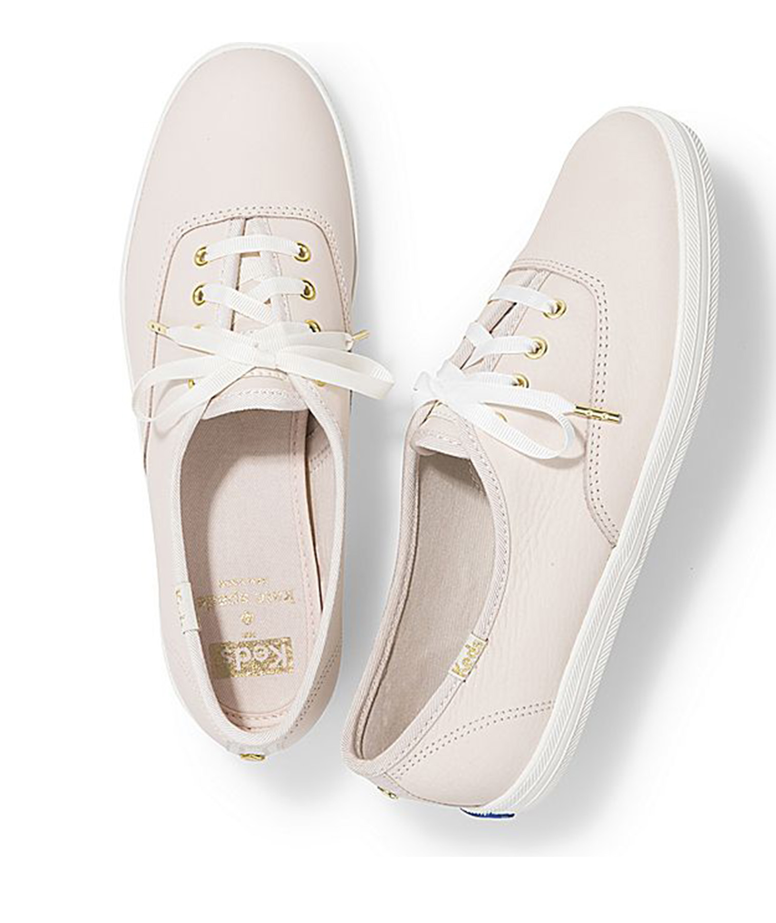 KEDS x Kate Spade New York Champion Leather Sneakers in blush color