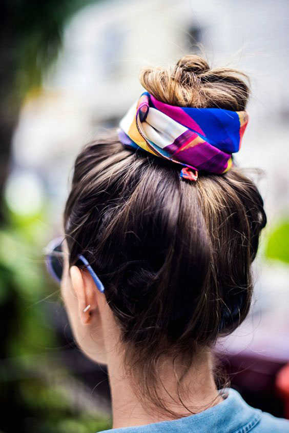 Silk-Wrapped Topknot