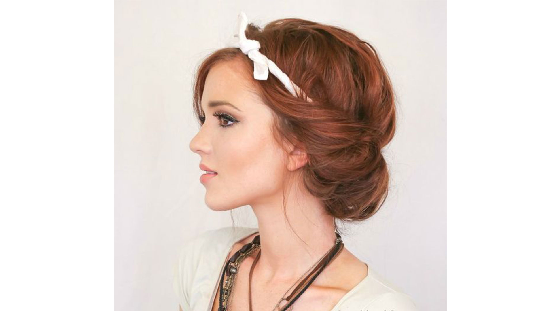Headscarf Roll Updo