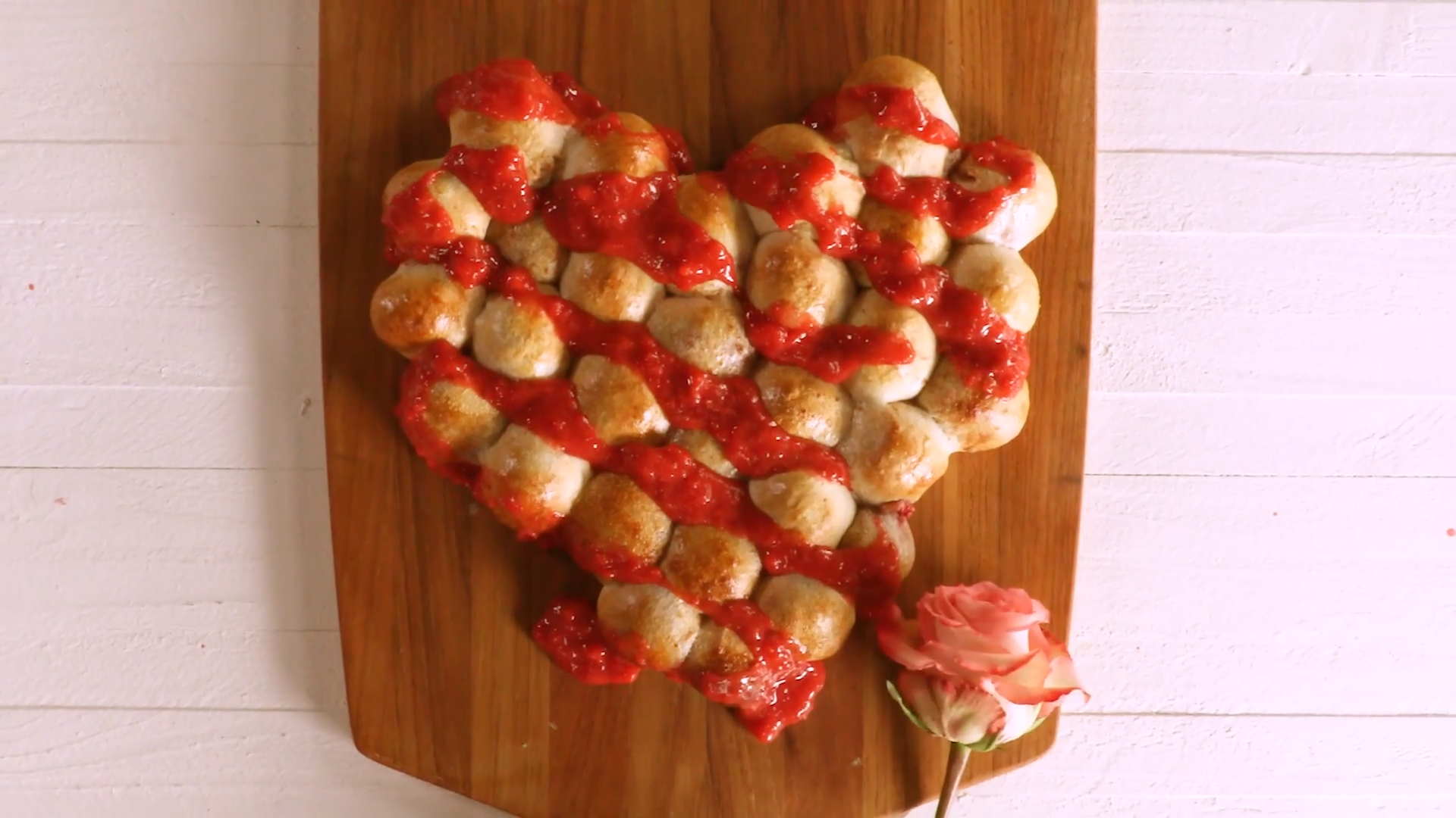 Strawberry Pull-Apart Heart