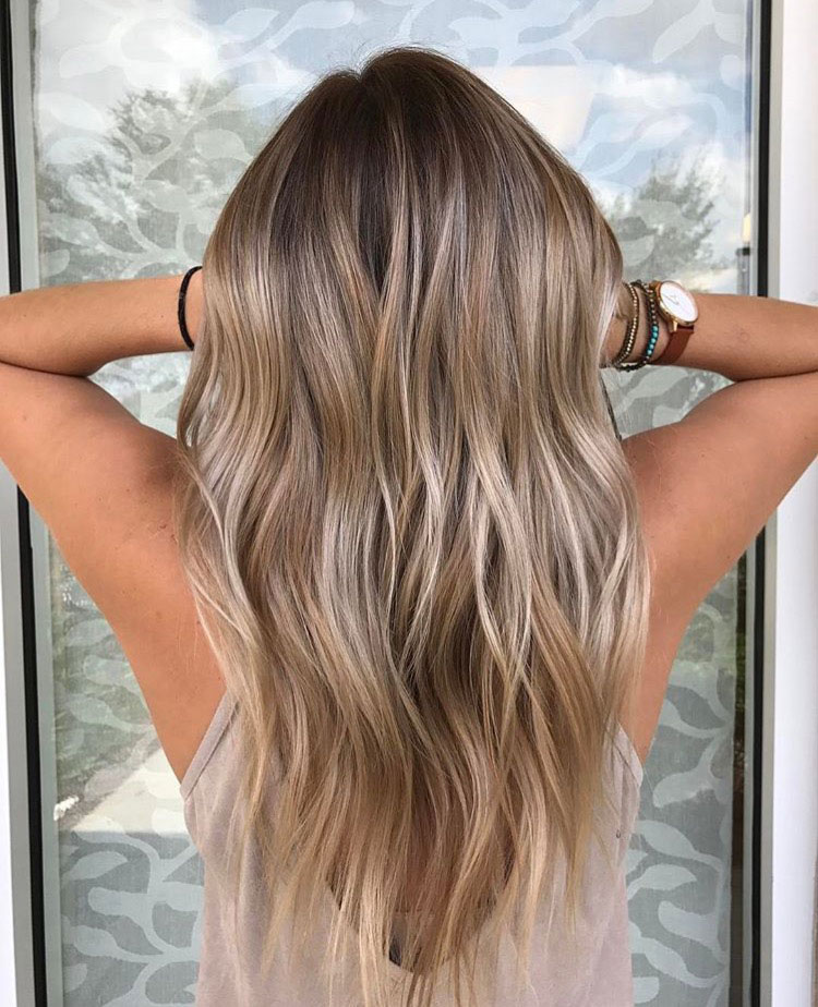 Ash Blonde with Buttery Balayage