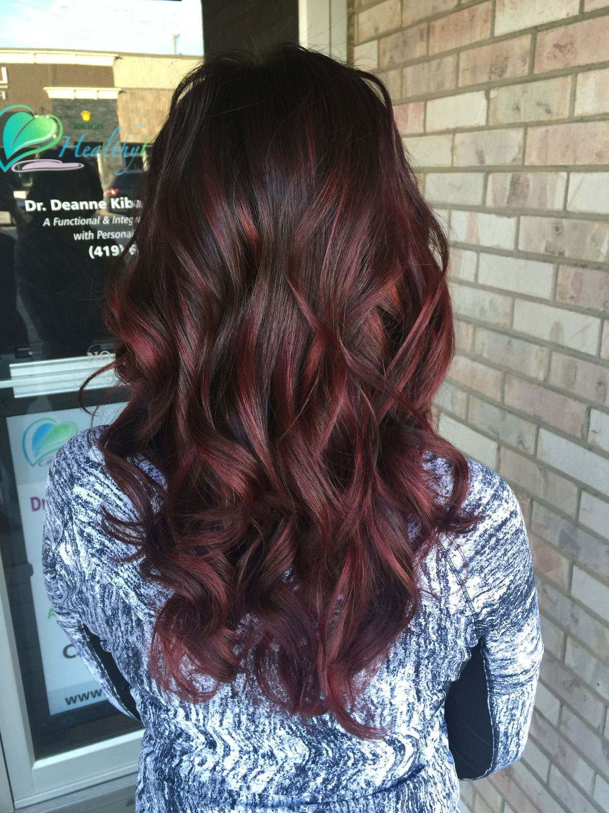 Cherry Cola Balayage