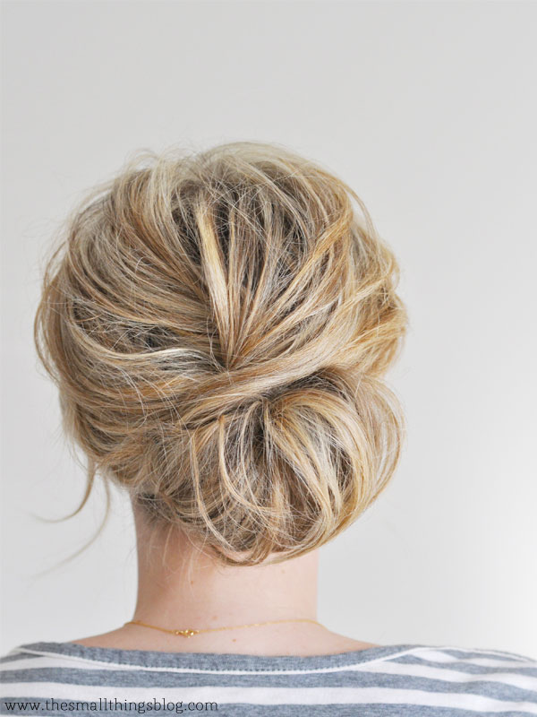 Messy Low Chignon