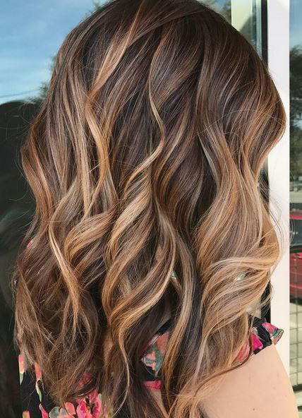 Chocolate Brown Hair with Caramel Blonde Balayage