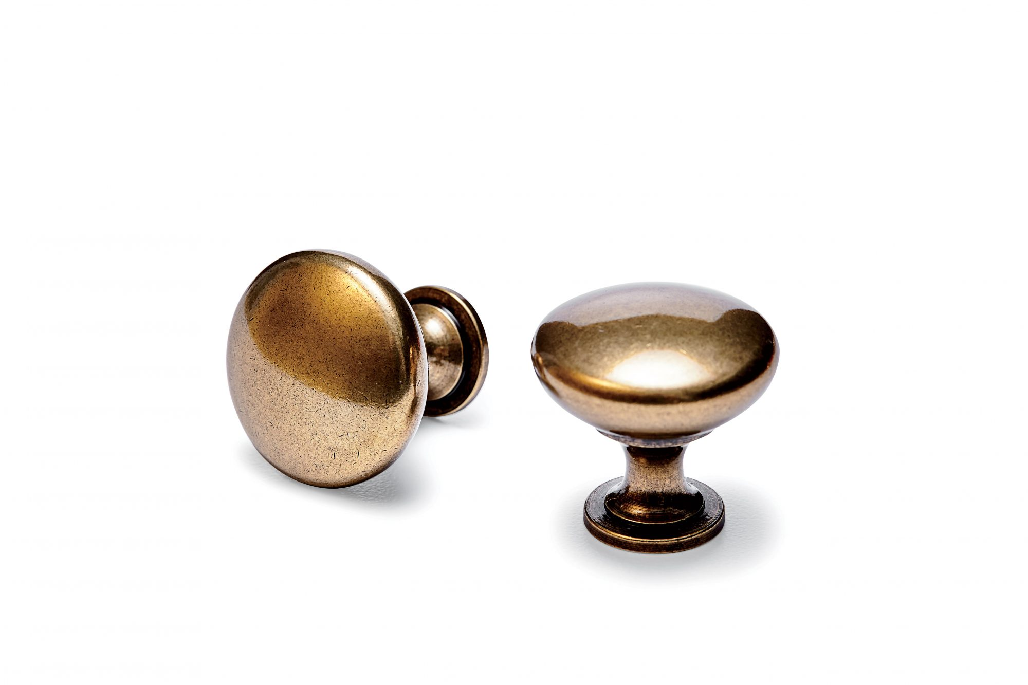 Allison Mushroom Knob in Burnished Brass
