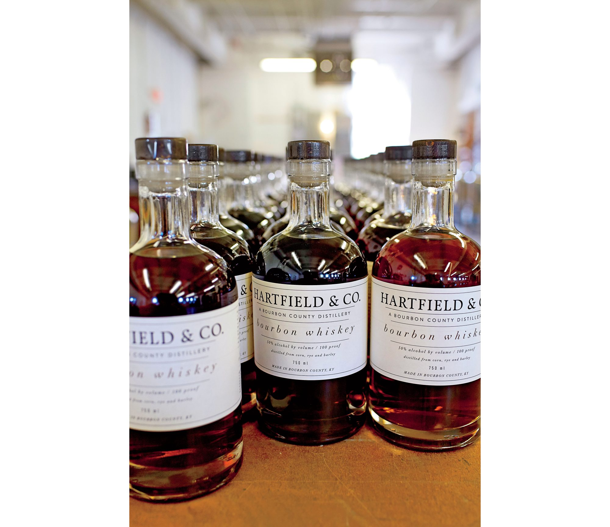 Hartfield & Co. Bourbon Bottles