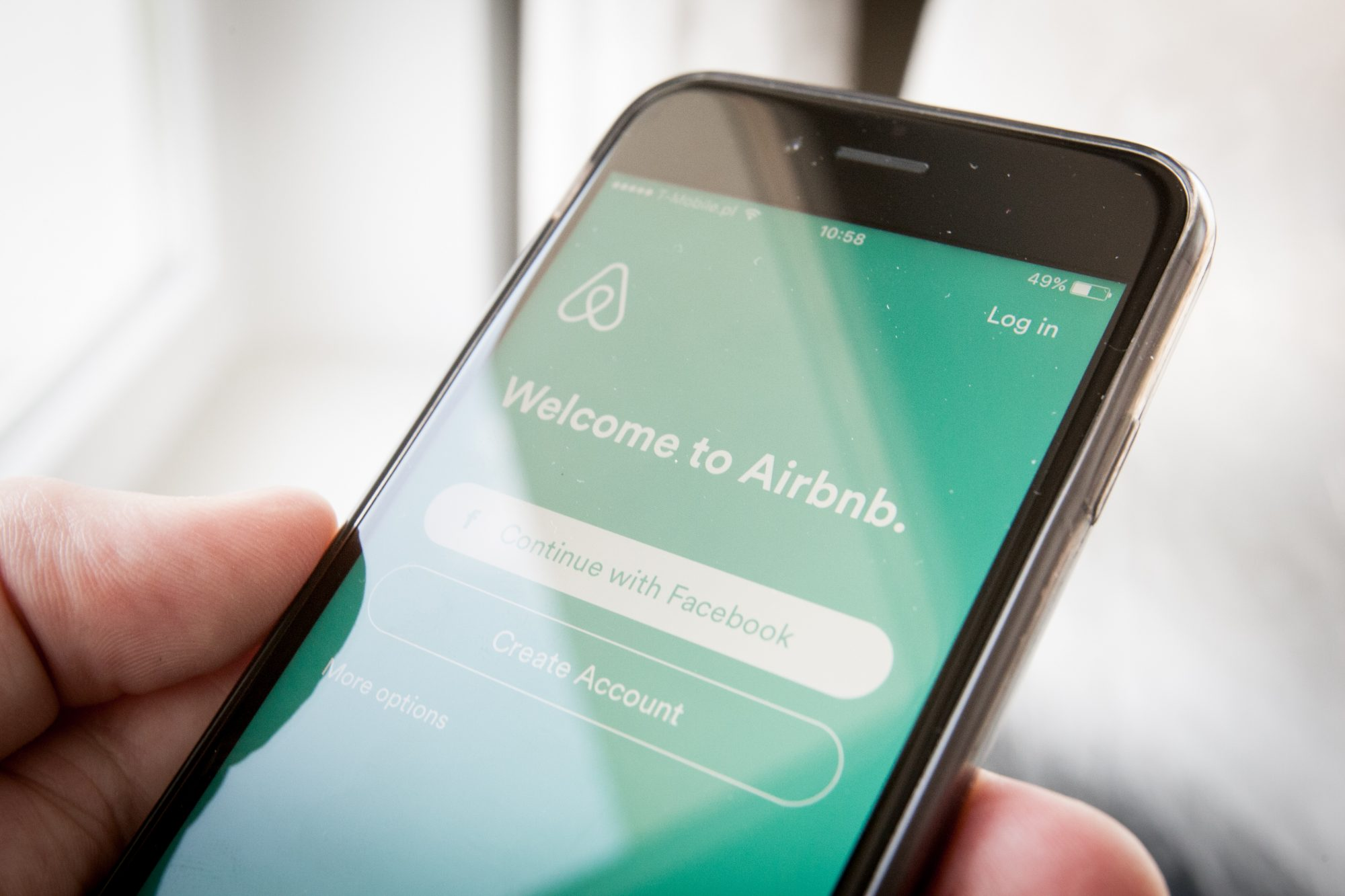 Airbnb App on Smart Phone
