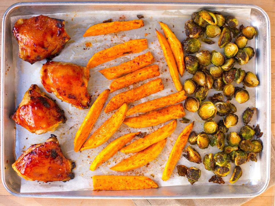 Barbecue Chicken and Brussels Sprouts