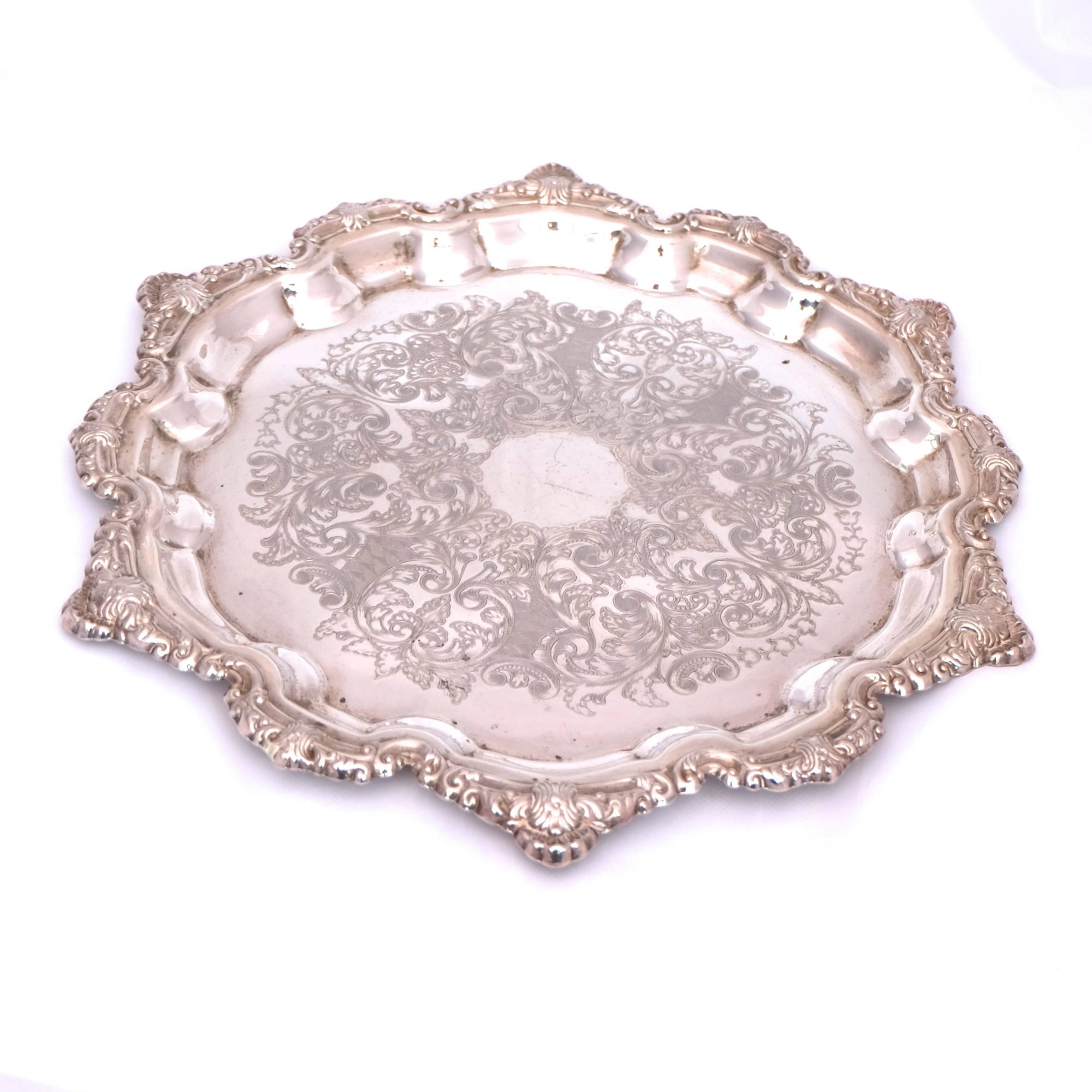 Falstaff Silver-Plated Serving Tray