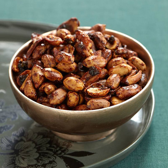 Maple-Glazed Peanuts & Bacon