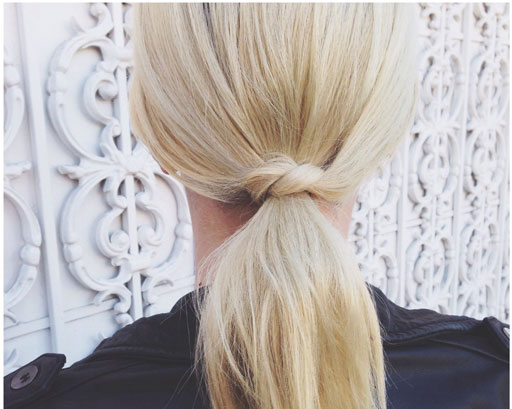 Knotted Ponytail for Short Hair