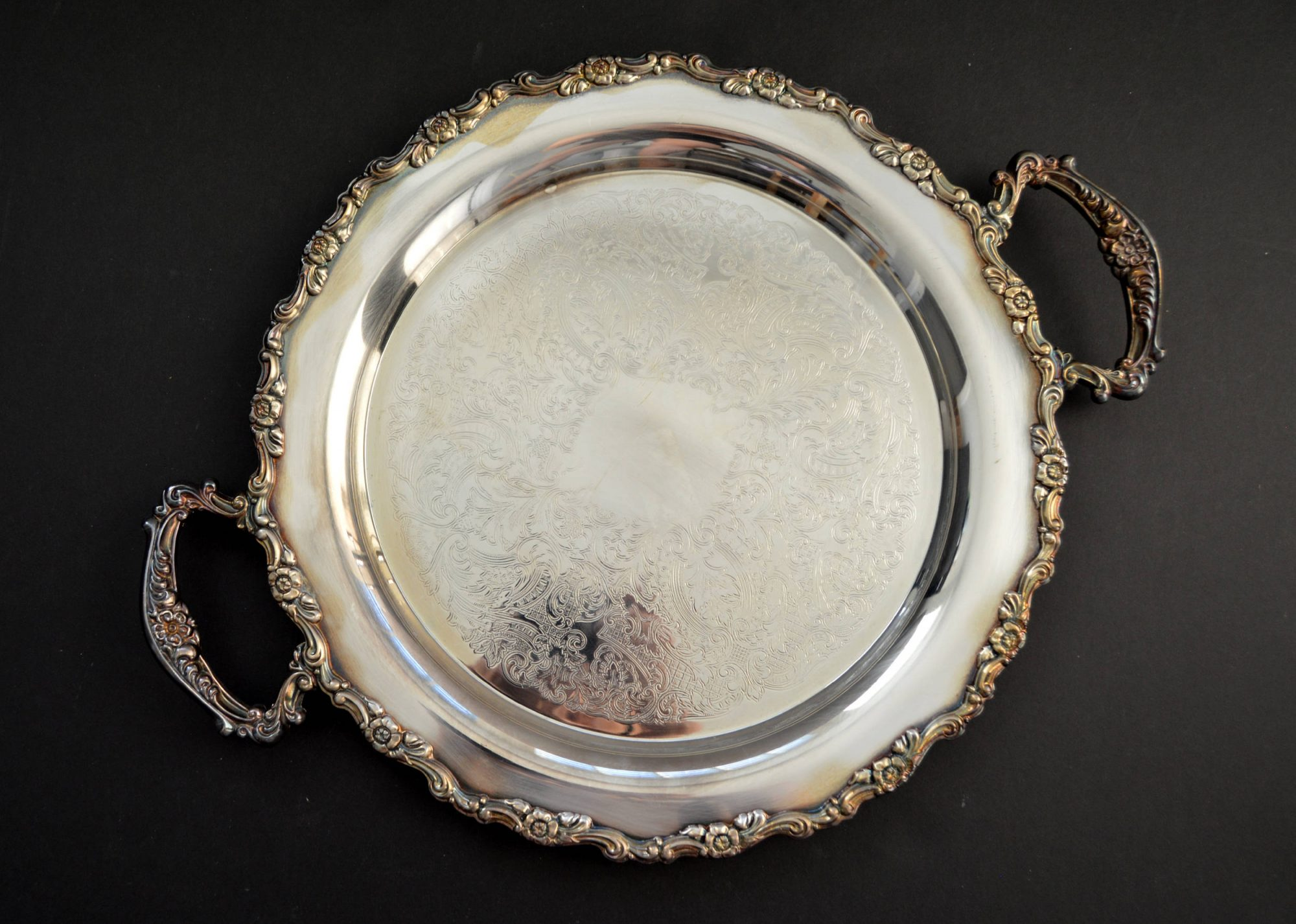 Oneida Silver-Plated Tray With Handles