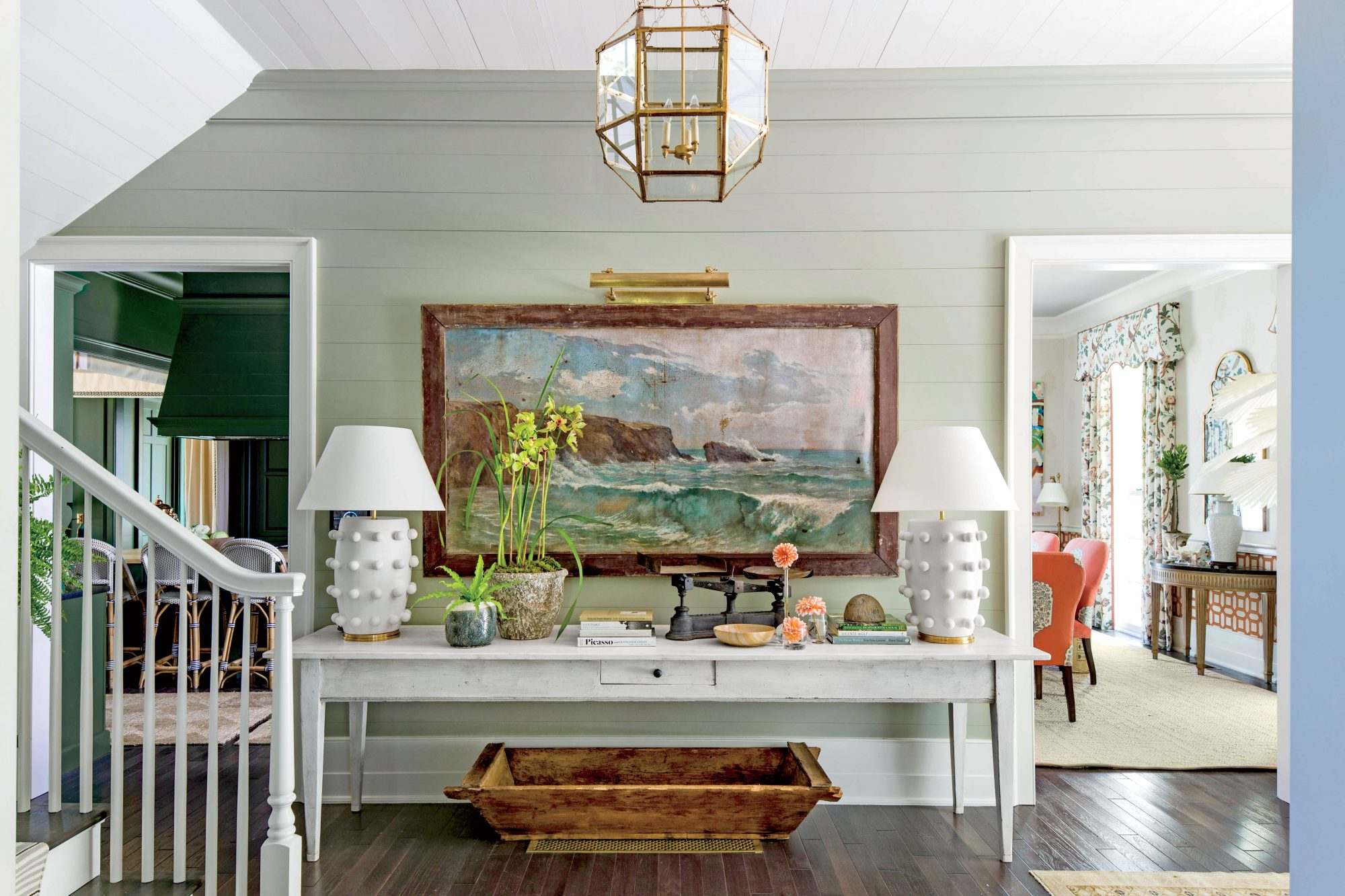 Sage Green Entry Hall