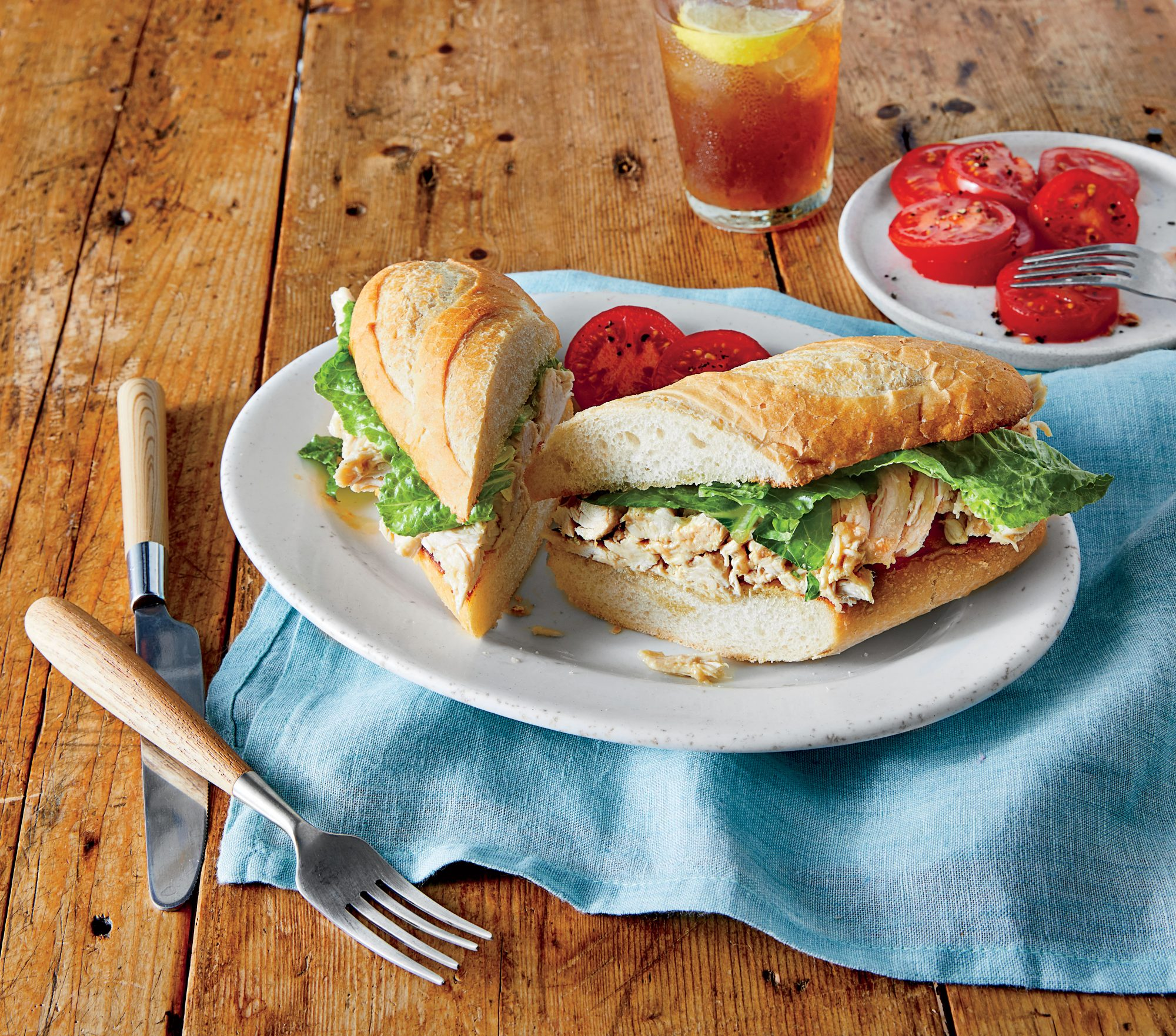 Chicken Caesar Salad Sandwiches Recipe Pam Lolley