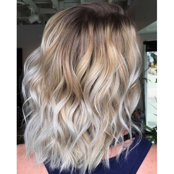 Balayage With A Hint of Frozen Blonde