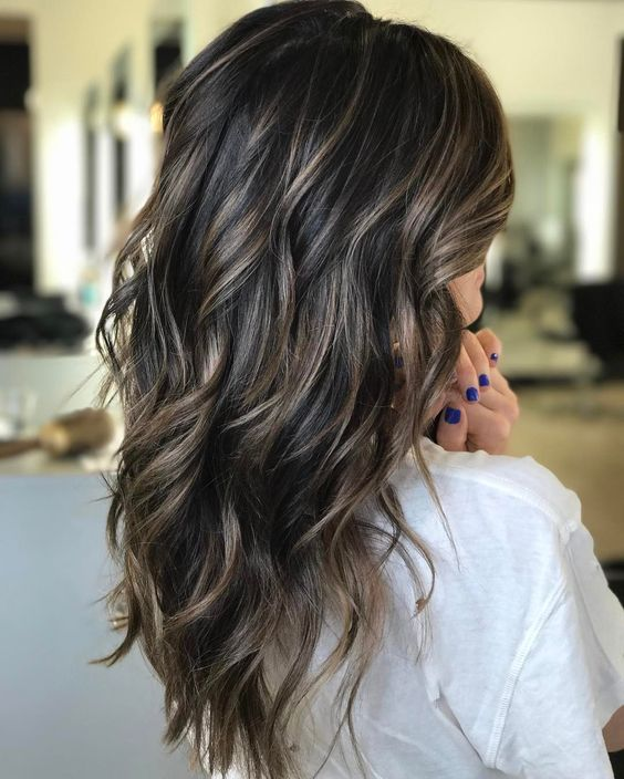 Cool Brunette with Bronde Babylight Ribbons