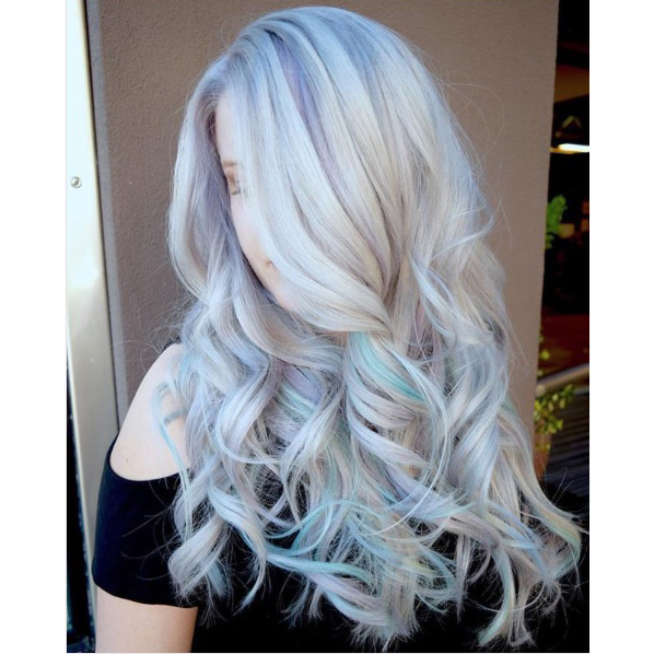 Frozen Blonde With Pastel Ribbons