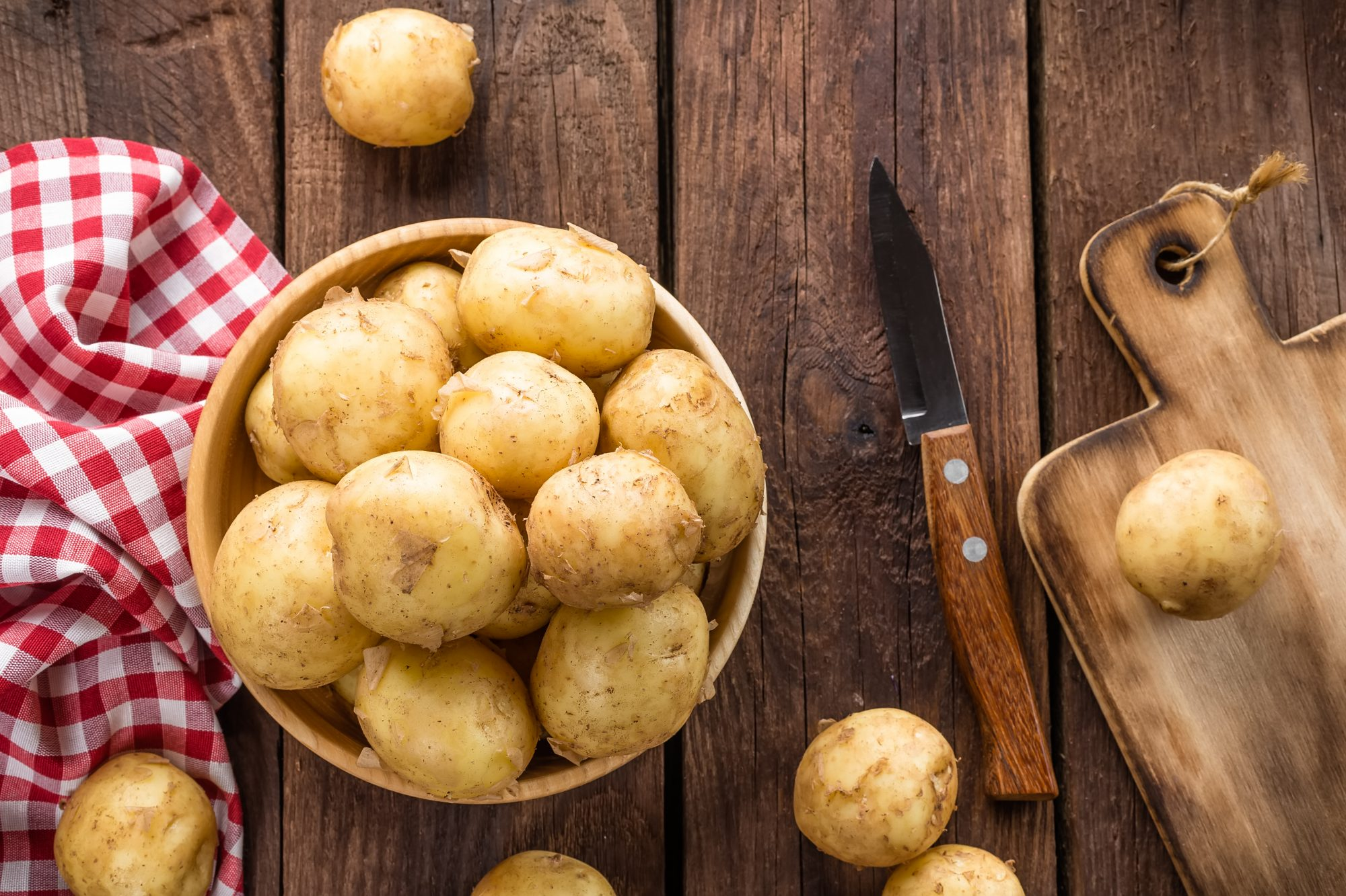 Southern Living Potato Peeling Hack