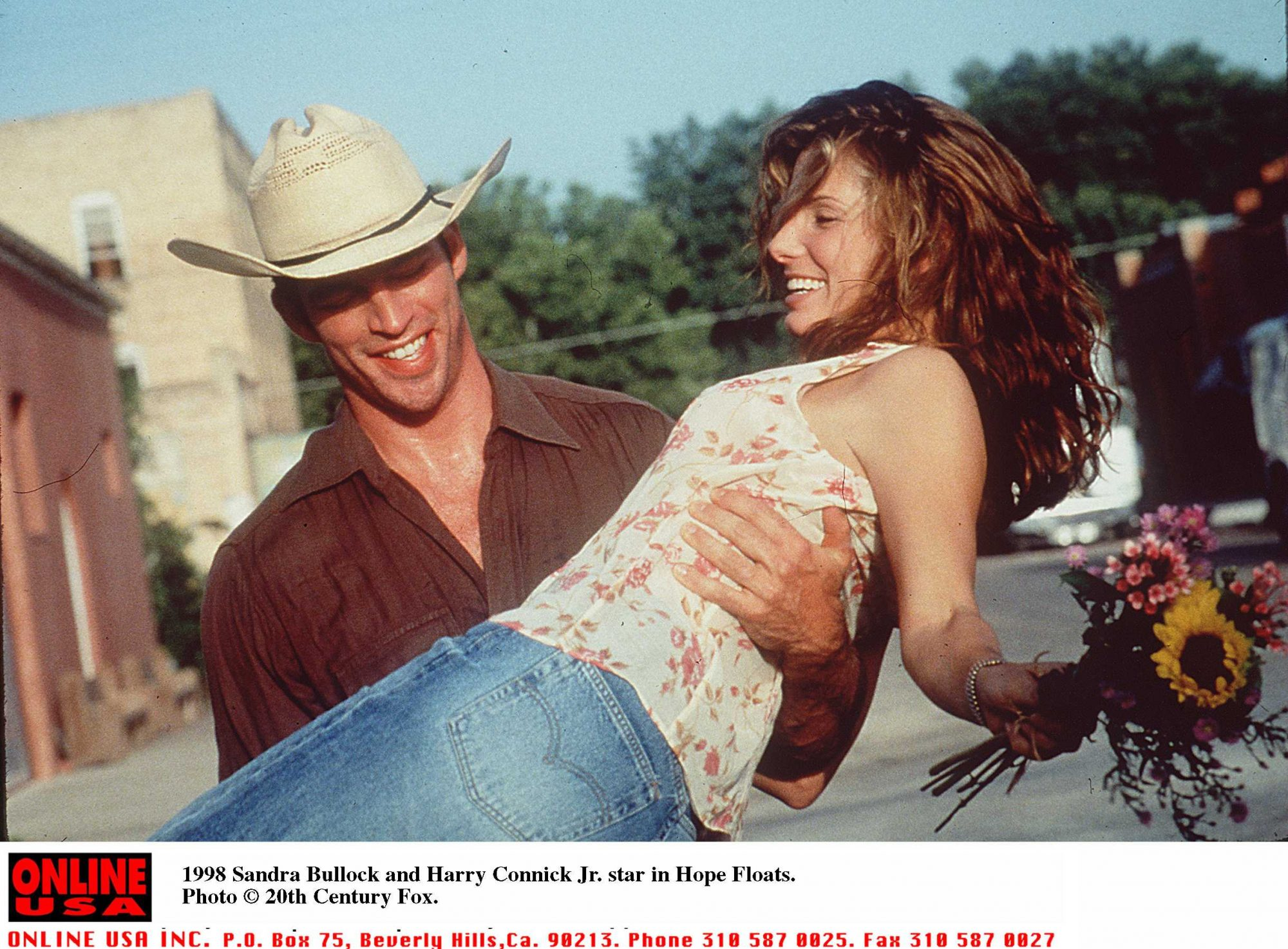 Sandra Bullock and Harry Connick, Jr in Hope Floats