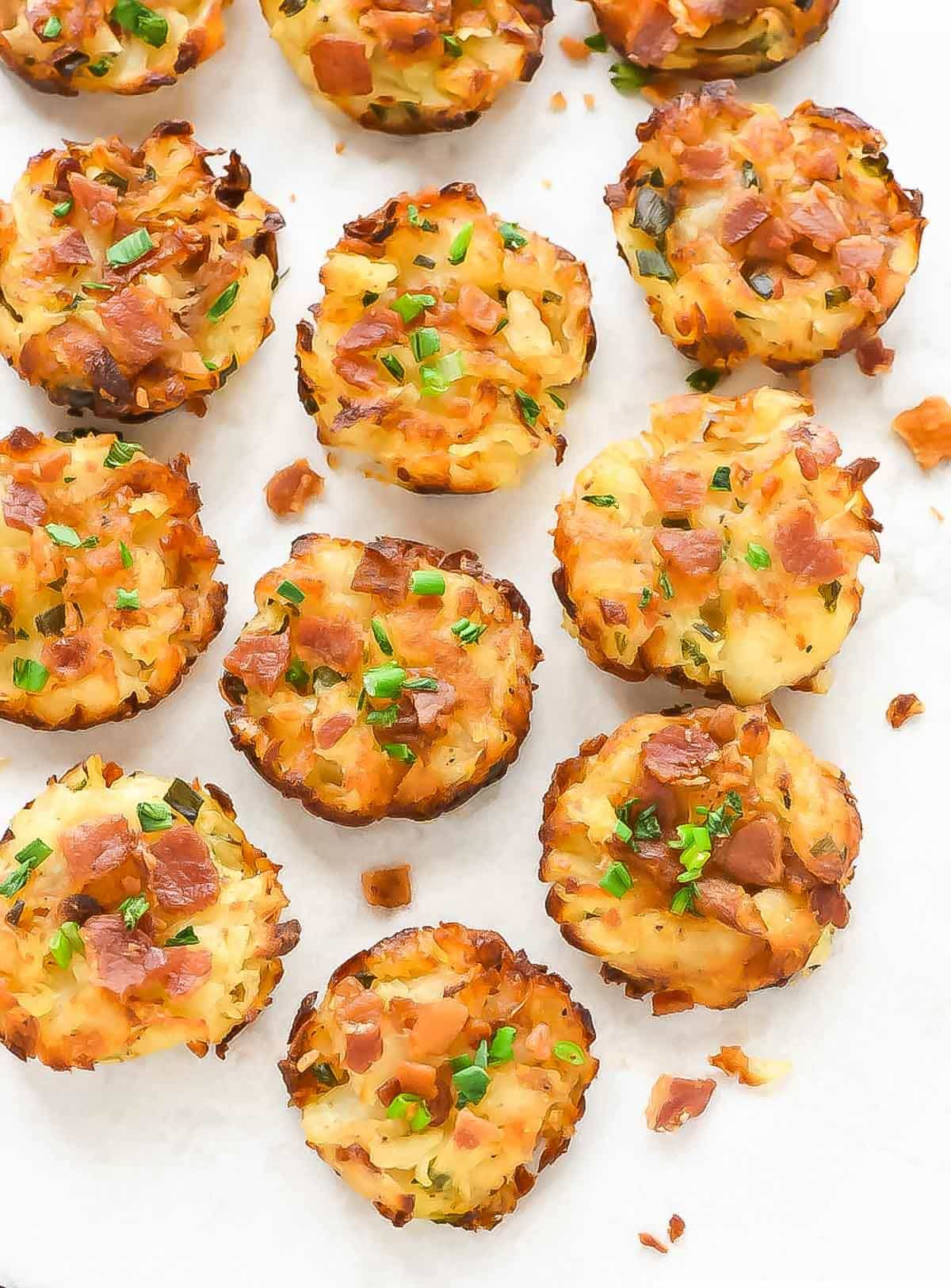 Homemade Tater Tots with Cheese and Bacon