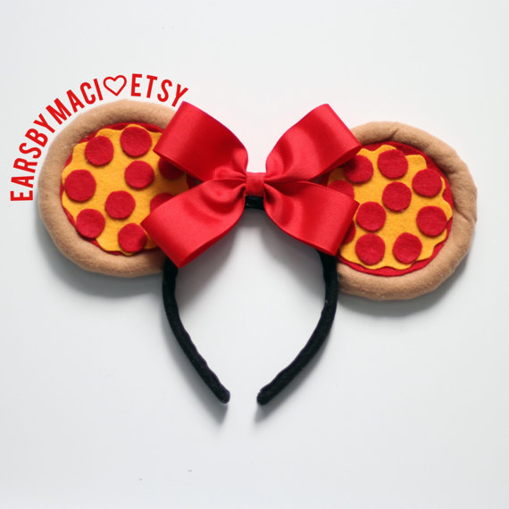 Minnie Mouse Pepperoni Pizza Ears