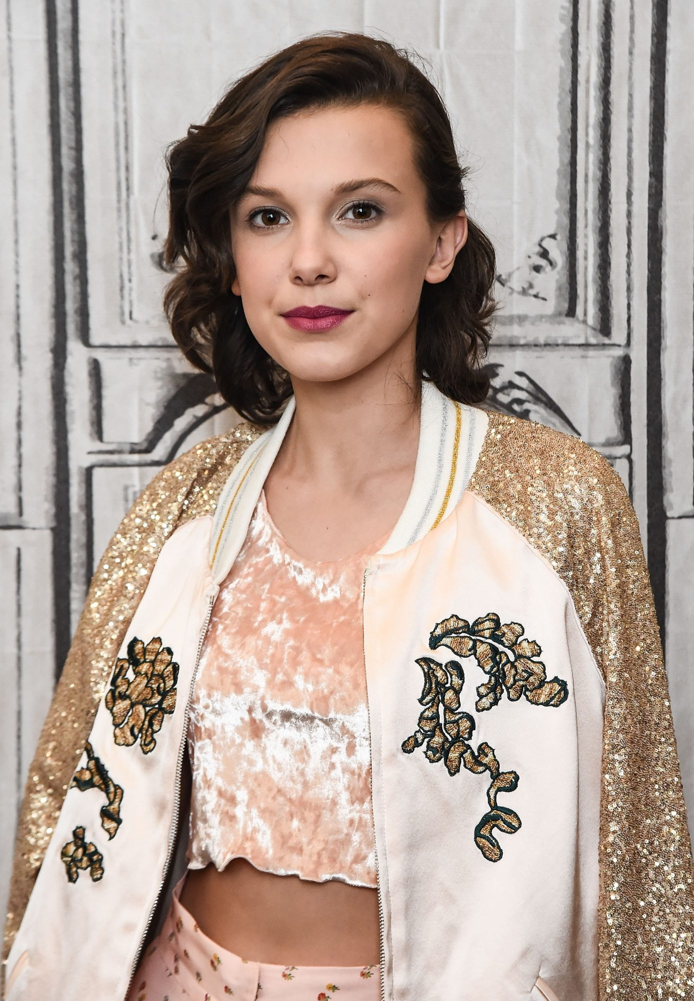 Millie Bobby Brown's Deep Side Part