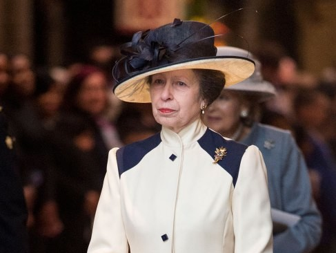 This Thrifty Royal Wore a Nearly 40-Year-Old Outfit to Church with the Queen princess-anne-2