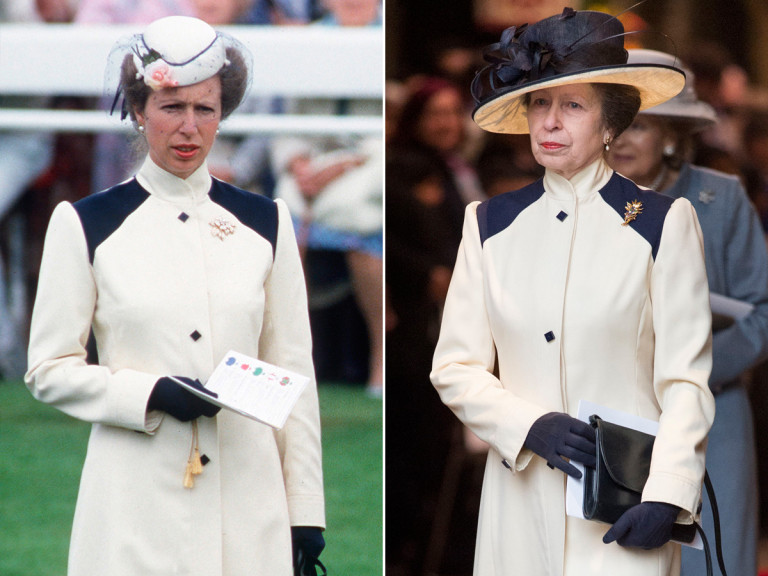 This Thrifty Royal Wore a Nearly 40-Year-Old Outfit to Church with the Queen princess-anne-tout
