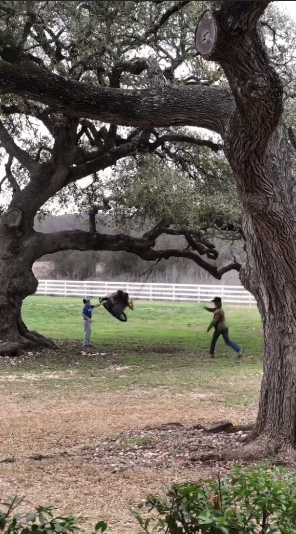 Chip and Joanna Gaines' 12-Year-Old Son, Drake, Hams It Up Like Dad During Backyard Playdate screen-shot-2018-03-05-at-9-25-23-am