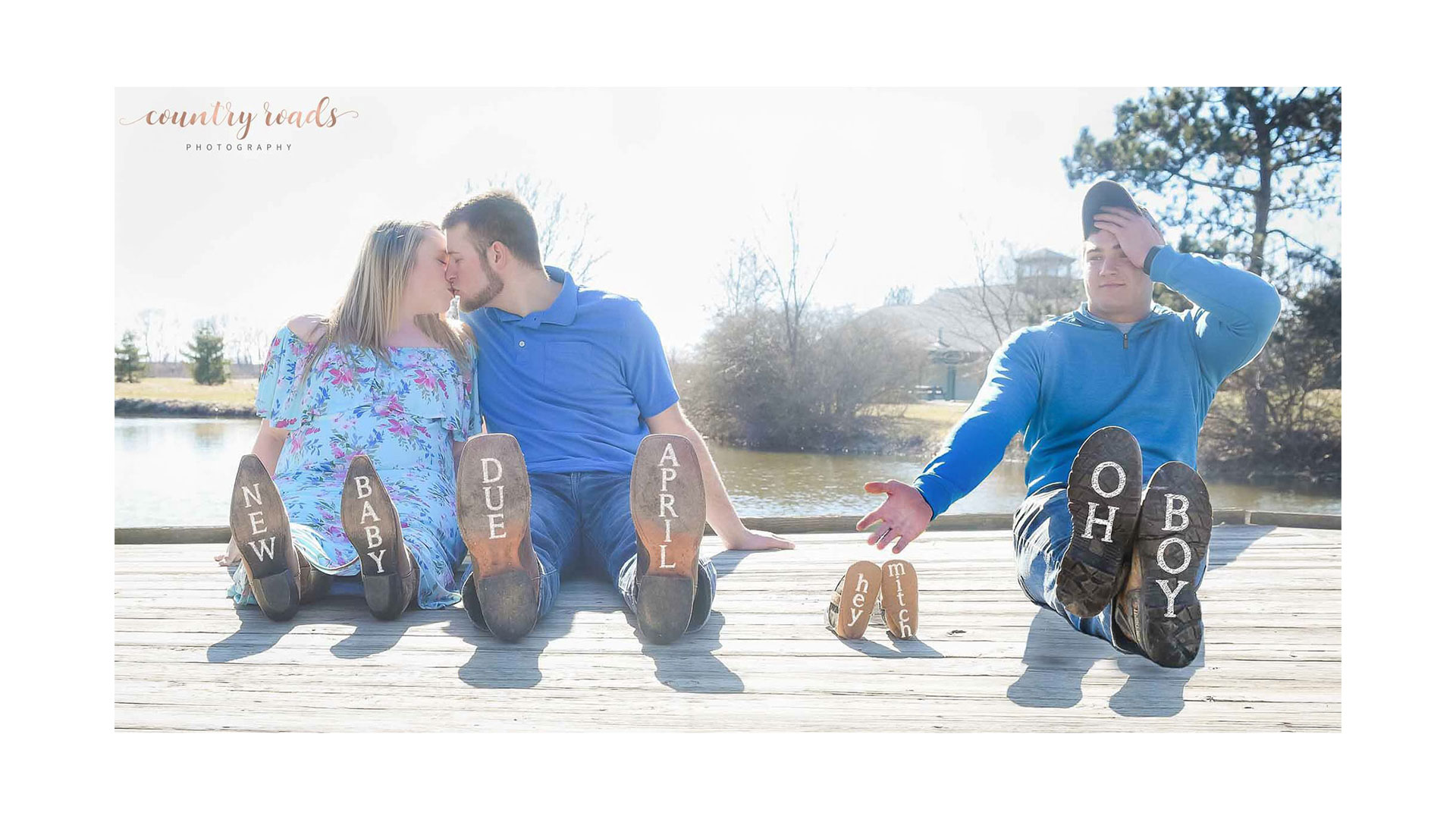 Southern Living Third Wheel Maternity Shoot
