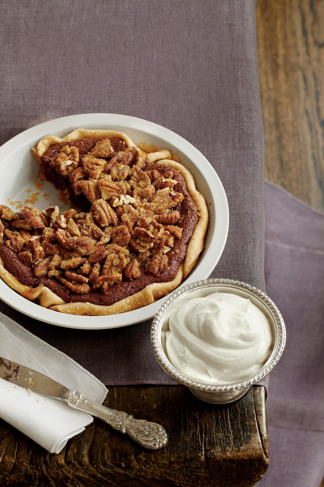 Chocolate-Pecan Chess Pie