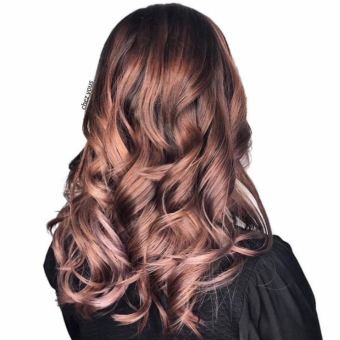 Rose Blonde Balayage