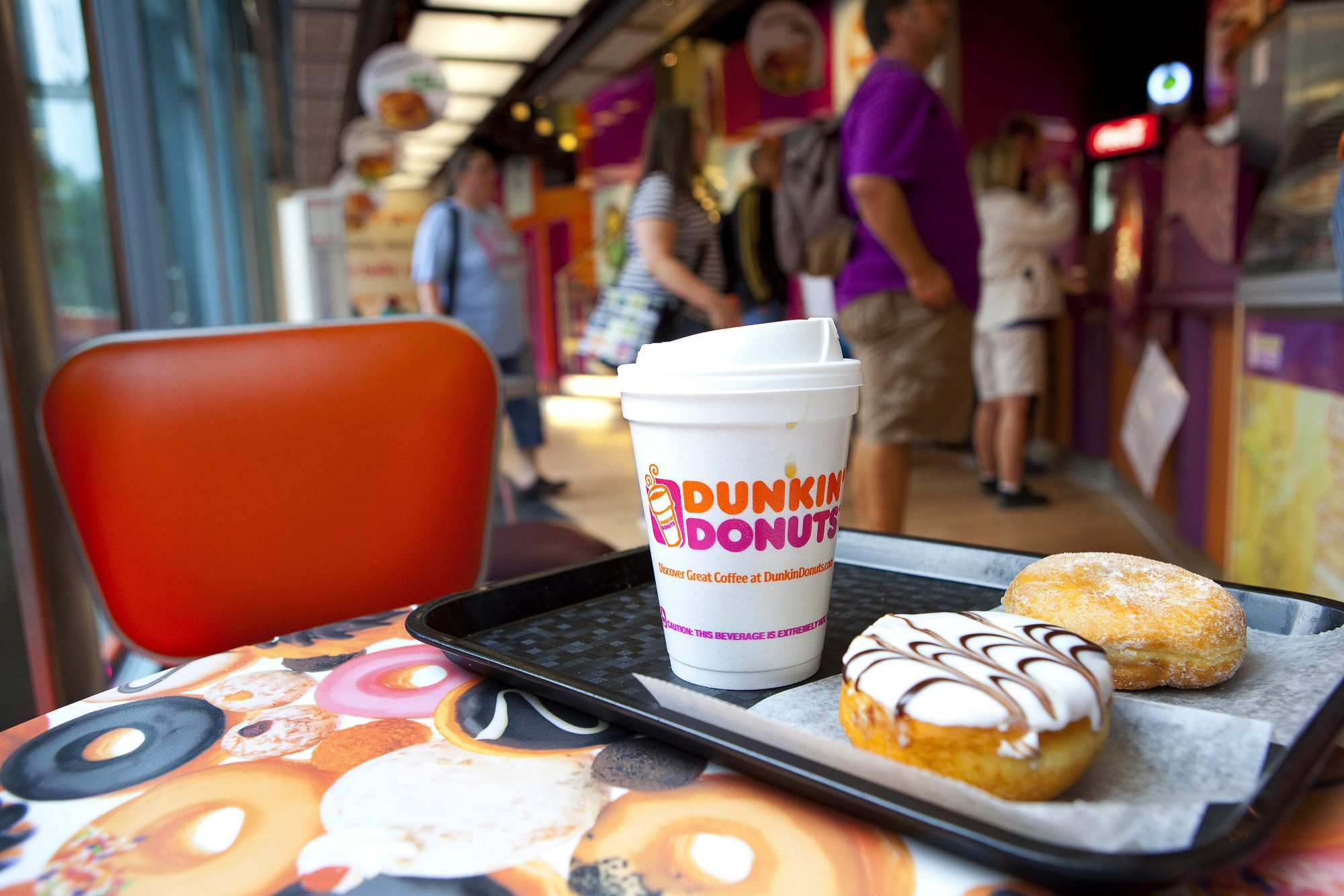 Inside A Dunkin' Donuts Store As Group Plans German Expansion