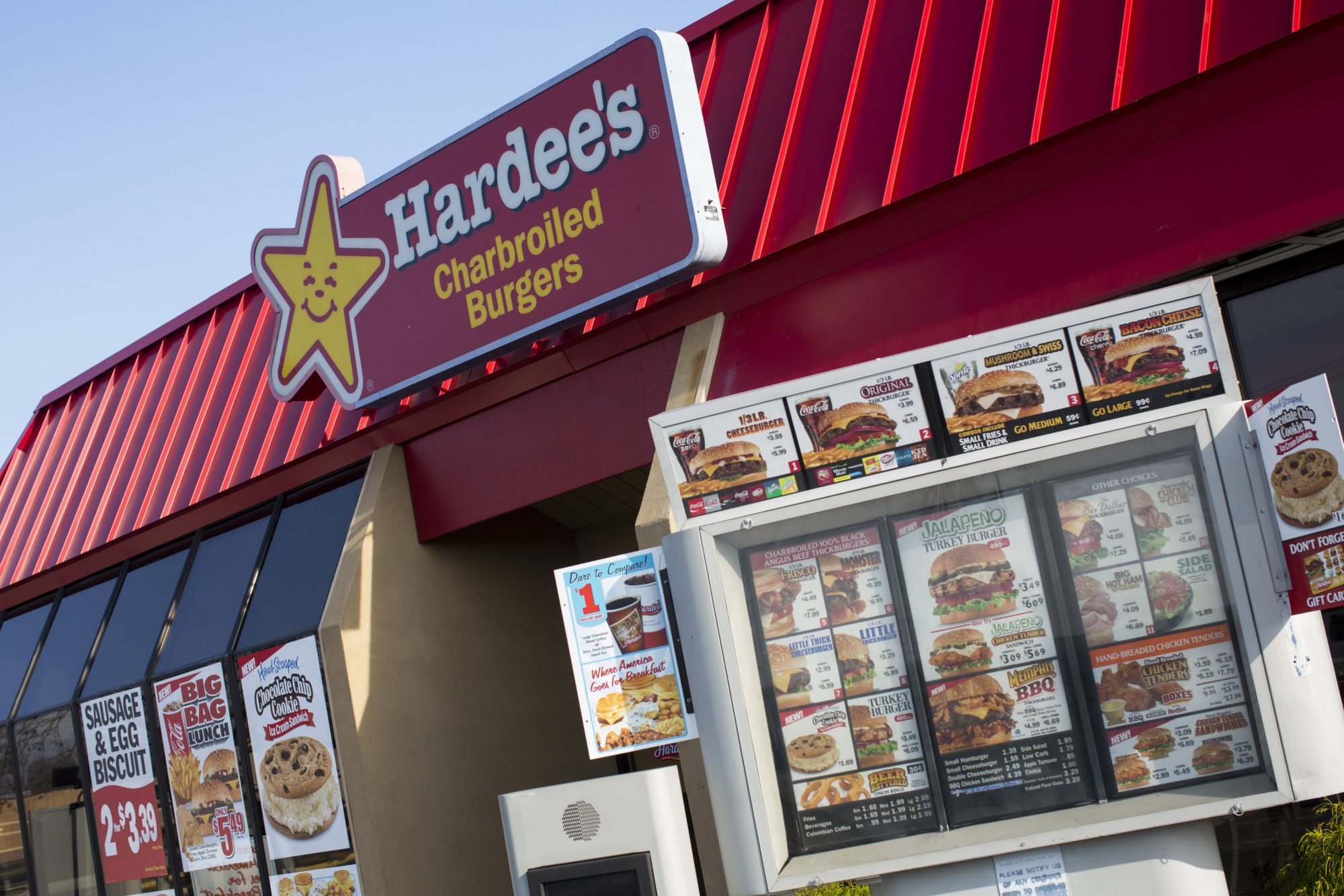 A Hardee's fast food restaurant in Milford, Delaware, December 25, 2012.