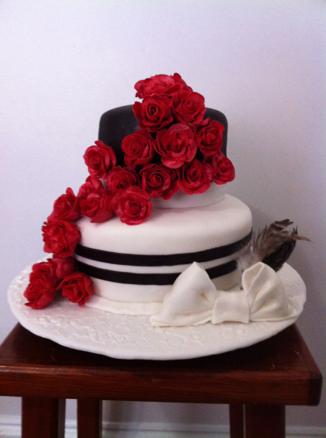Rose Derby Hat Cake