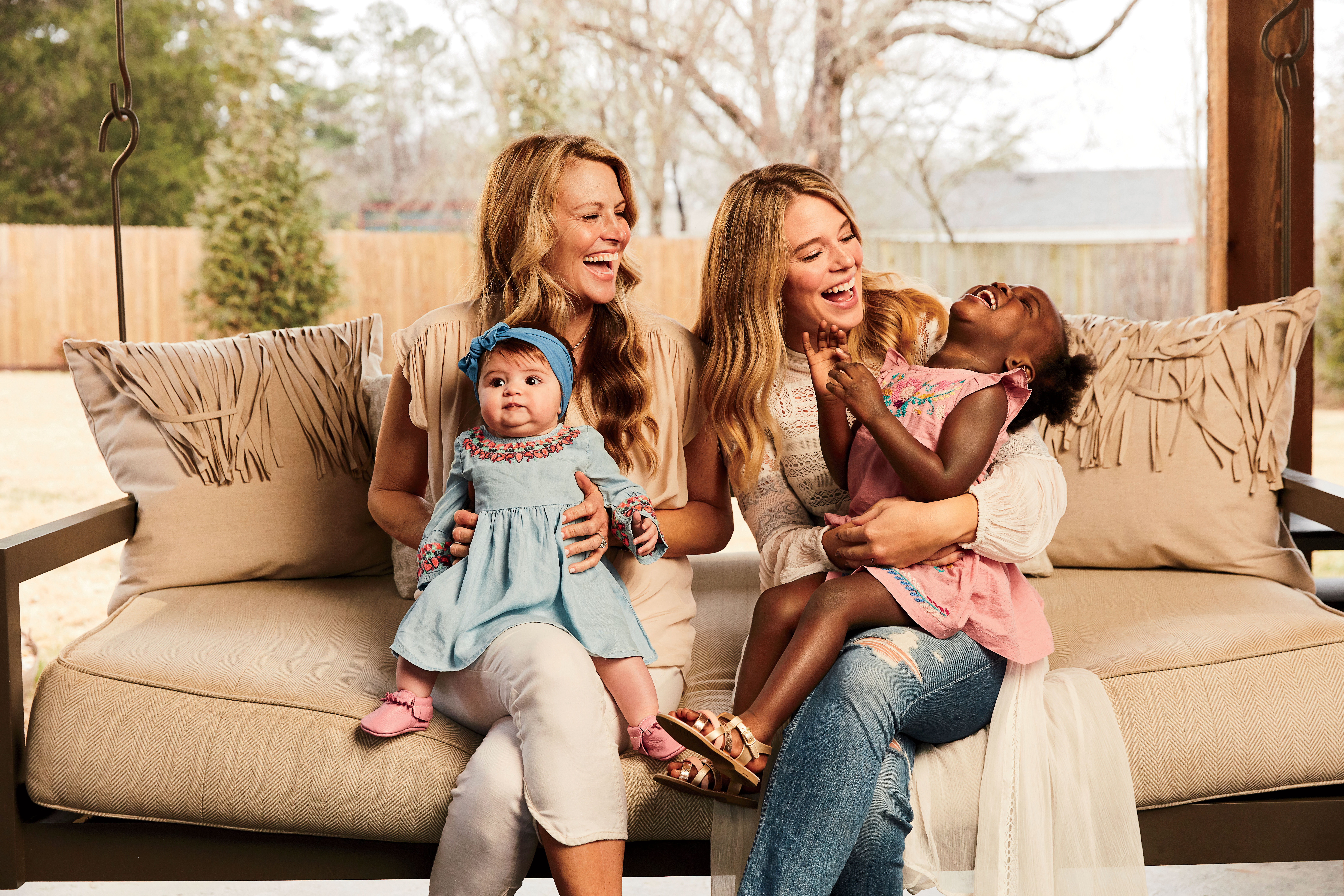 Lauren Akins with Mother, Lisa, and Two Daughters, Willa Gray and Ada James