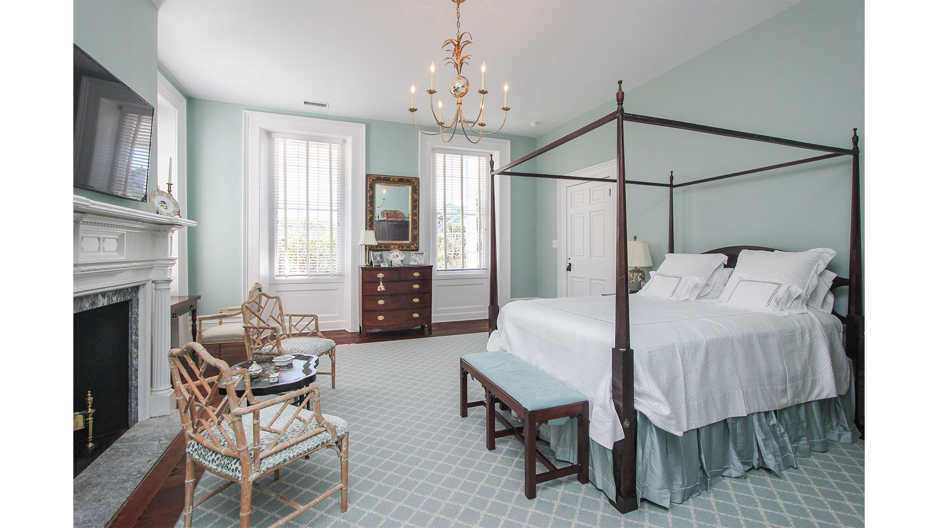 Southern Living 44 Battery Charleston Master Bedroom