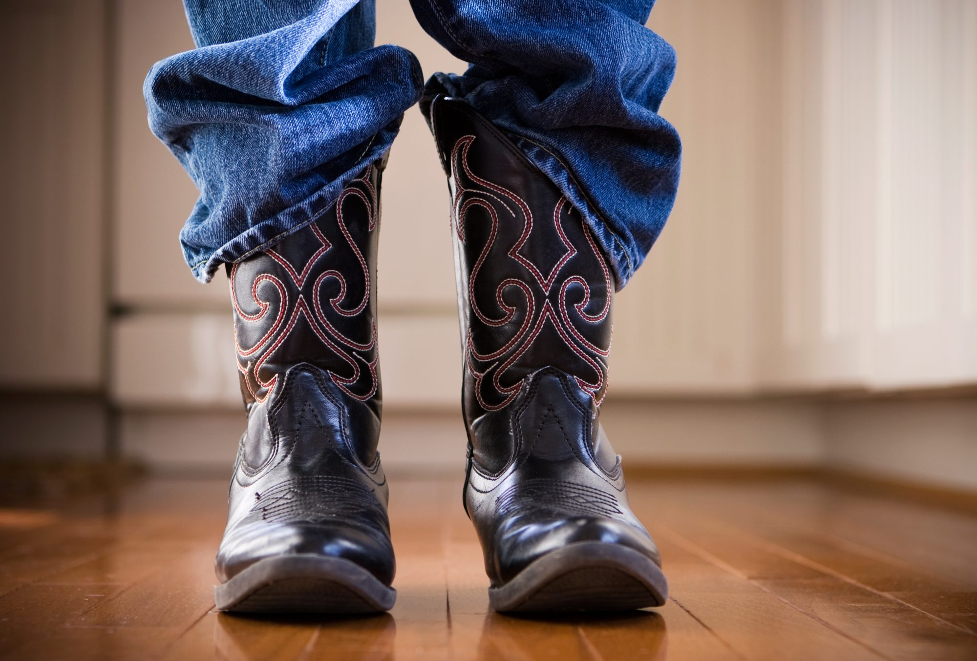 Young Boy in Cowboy Boots