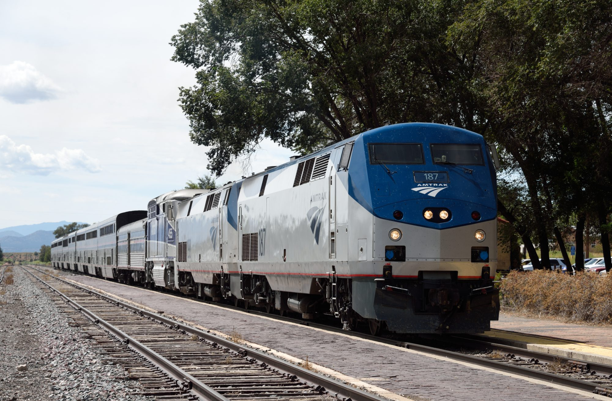 Amtrak Train and Background Views