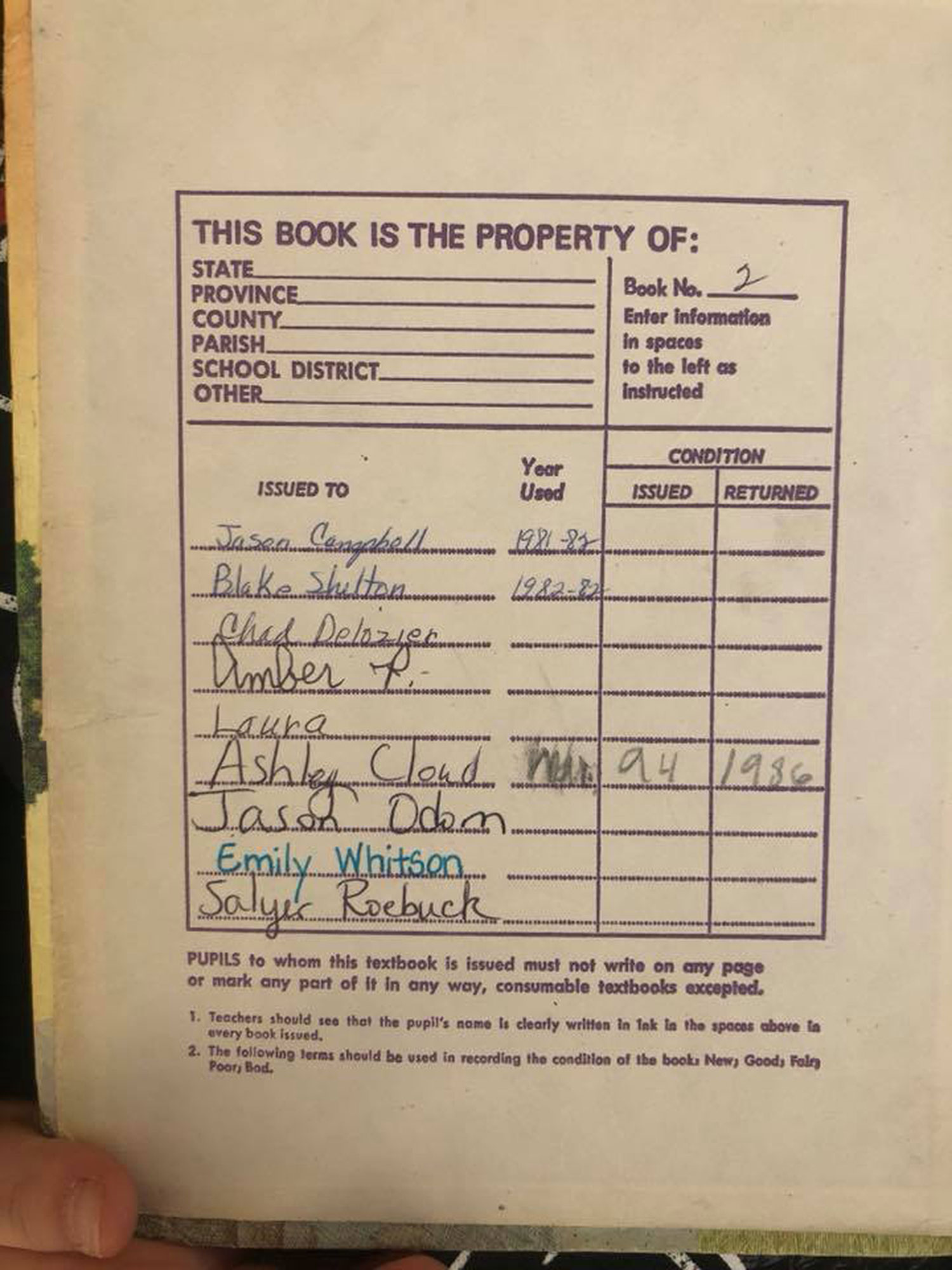 Oklahoma Mom 'Embarrassed' After Her Daughter Checks Out Textbook Once Used By Blake Shelton blake-shelton-book-2