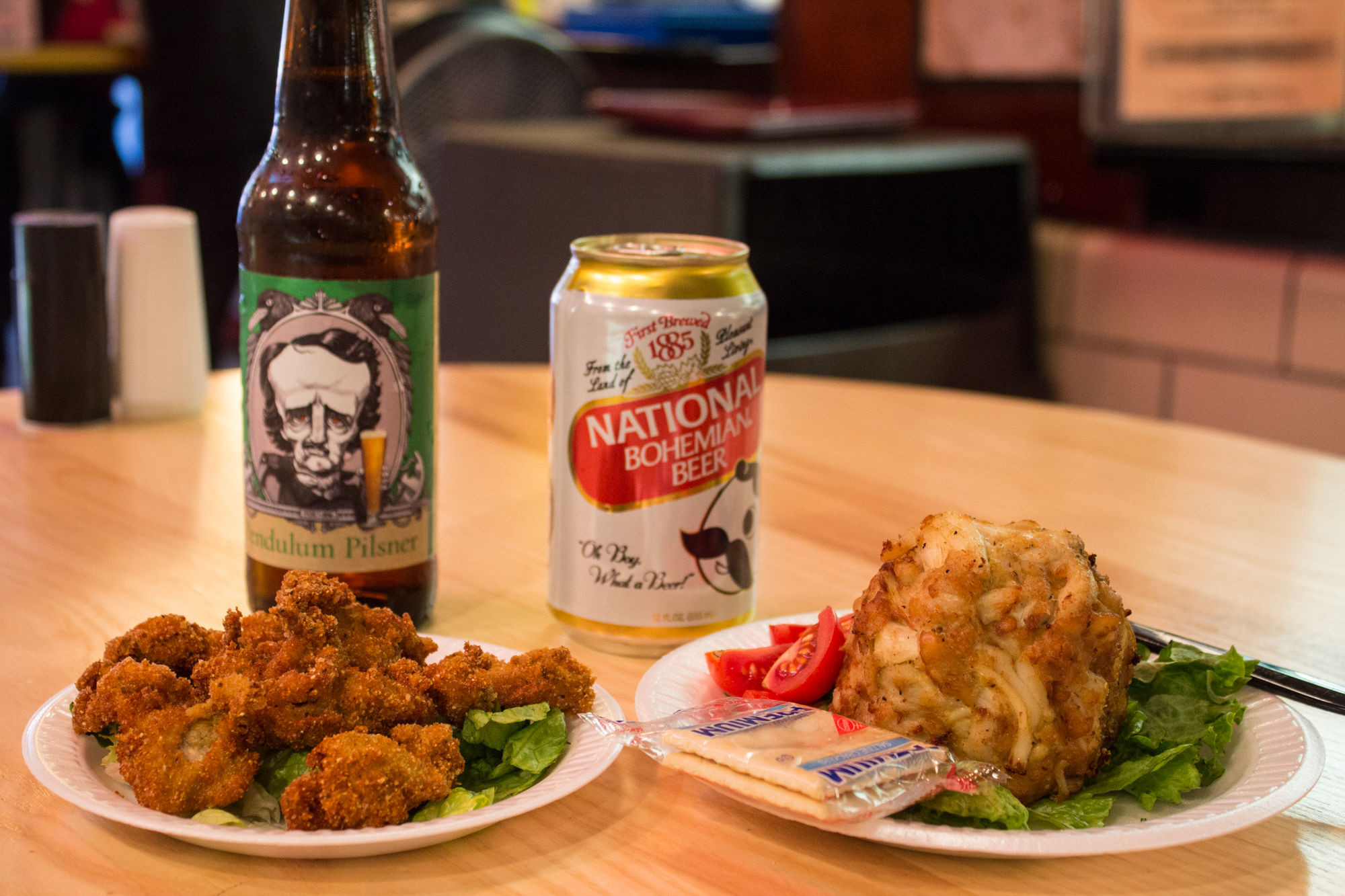 Among the produce and food vendors at Baltimore's rambunctious Lexington Market, Faidley sells crab cakes so packed with subtly spiced crabmeat that you won't mind having to stand at counters to eat them. We can't decide between the lump and...