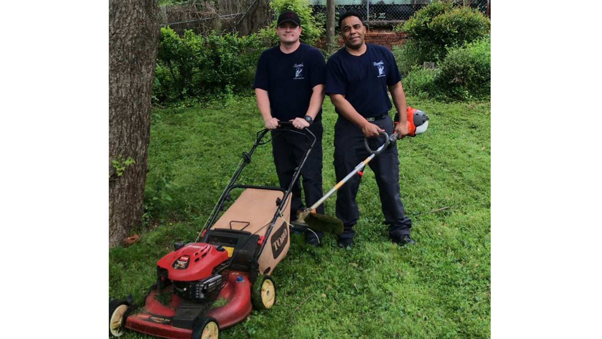 Southern Living Birmingham Firefighters Mow Lawn