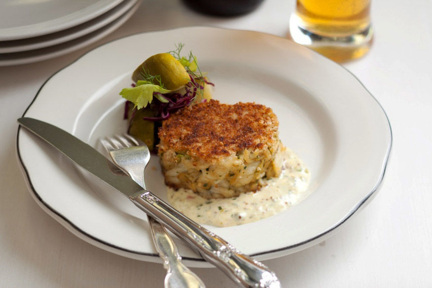 It's tempting, of course, to think that the world of crab cakes is defined by the waterways of the Eastern Seaboard and its rivers and bays, but that wouldn't be fair to chefs like David LeFevre, who brought his childhood summer experiences on...
