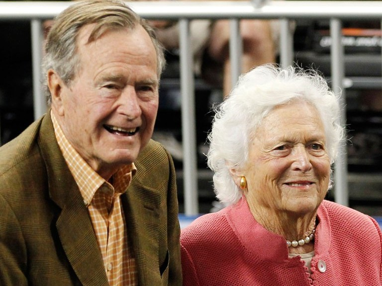 George H.W. Bush's Hospitalization After Barbara's Funeral Could Be Due to Broken Heart Syndrome george-barbara-bush