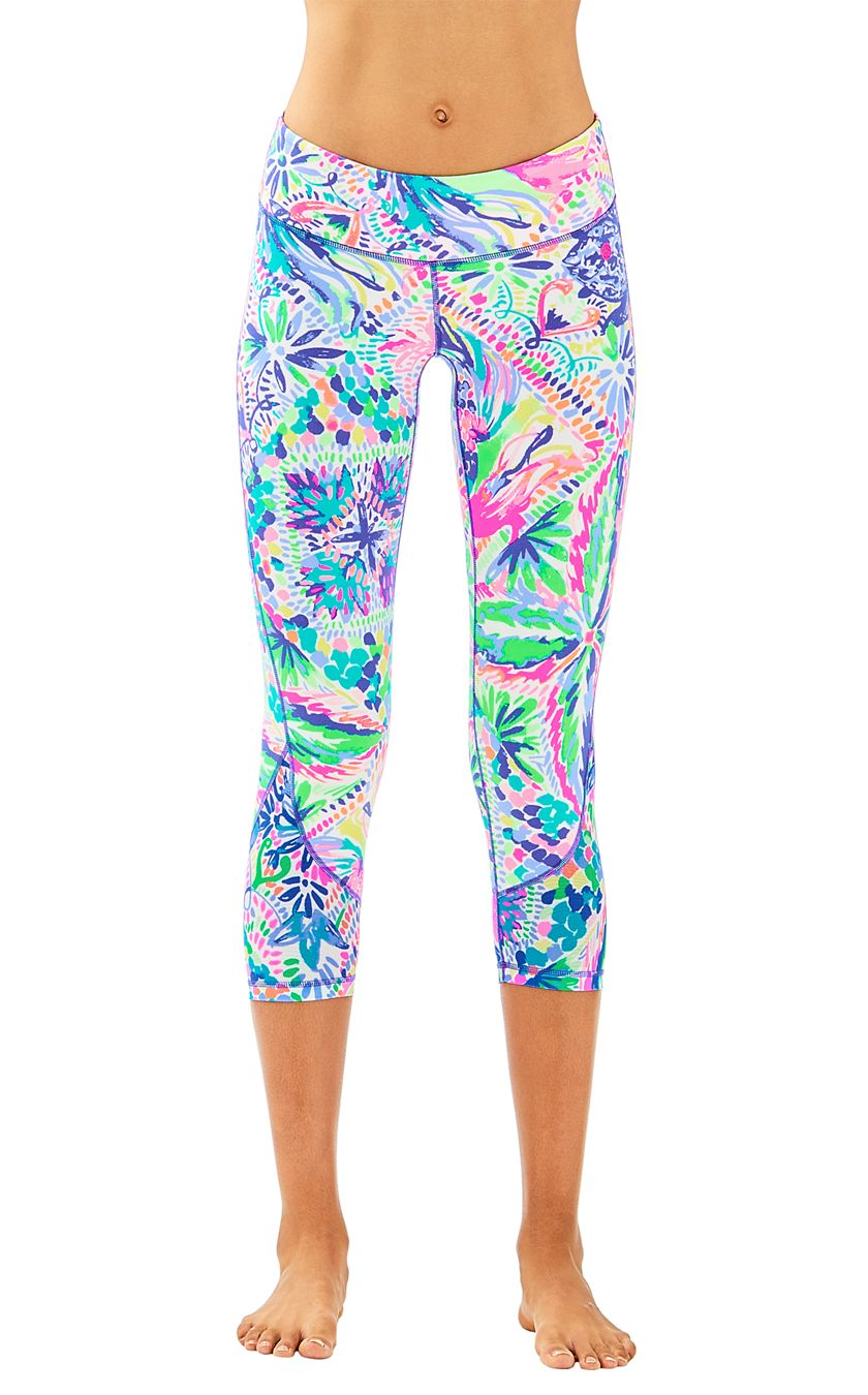 Patrick Reed May Have Won the Masters, But Wife Justine's Lilly Pulitzer Leggings Won the Day lilly-pulitzer