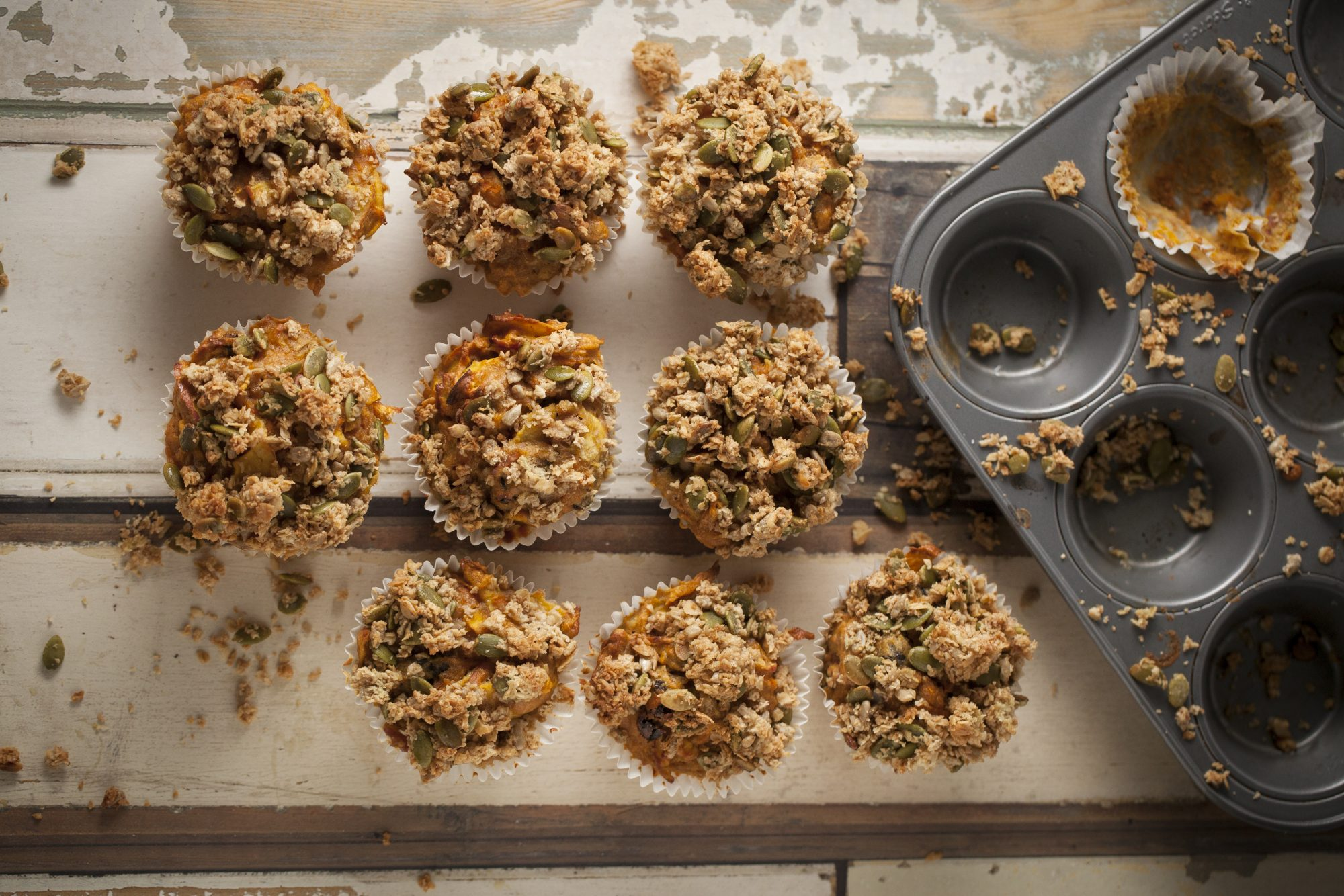 Weekend Recipe: Wholesome Carrot, Apple and Oatmeal Muffins