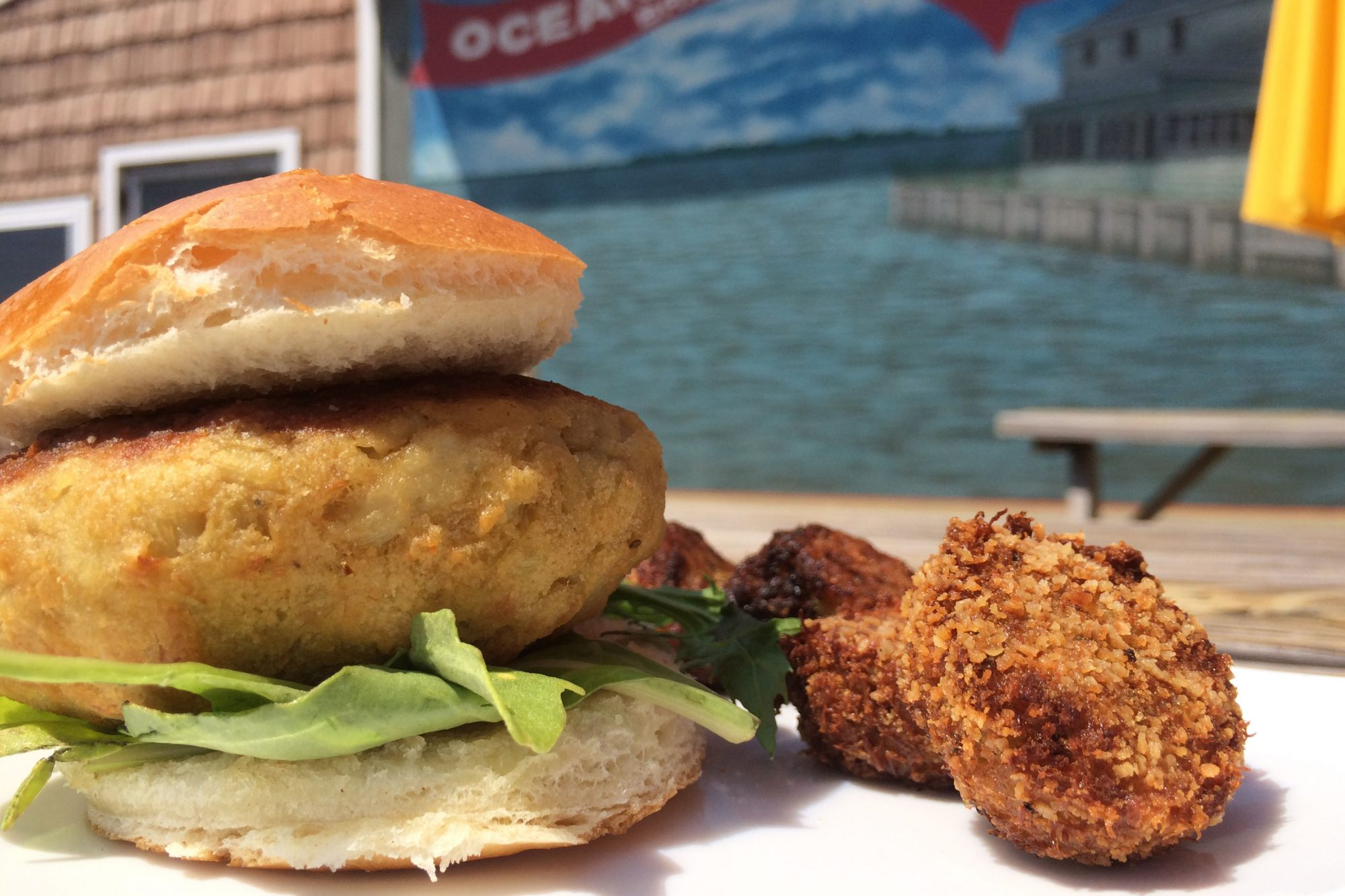 What started as a third-generation–run crab processing plant has grown into a trendy community gathering spot complete with an open-air crab-and-beer garden (a.k.a. heaven on earth). The crab cakes are among the kings of the menu—light on filling...
